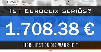 Nach meinen Erfahrungen ist Euroclix seriös